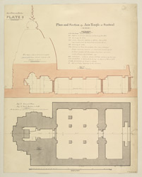 Miscellaneous Series Plate 3. Plan and Section of a Jain Temple at Sonawal